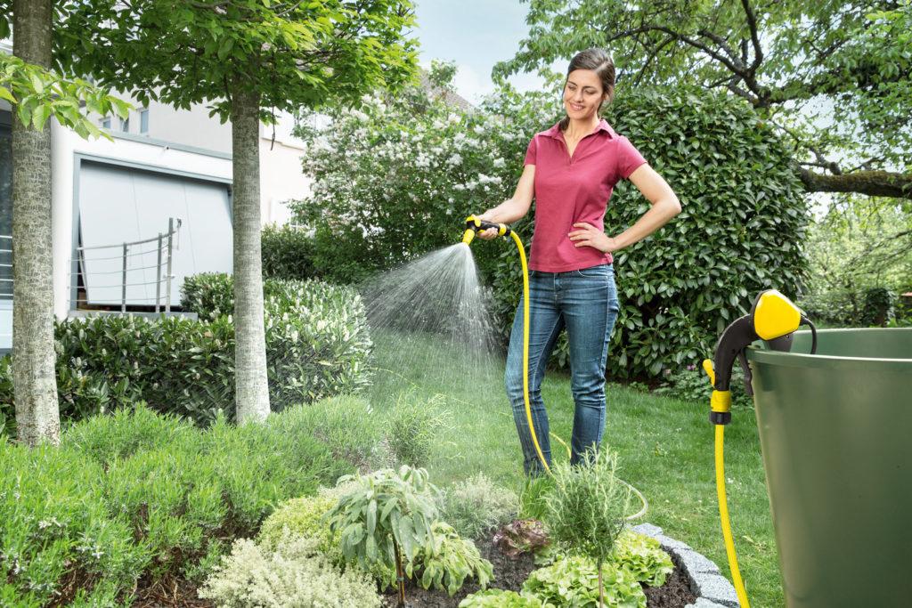 Polievanie záhradky