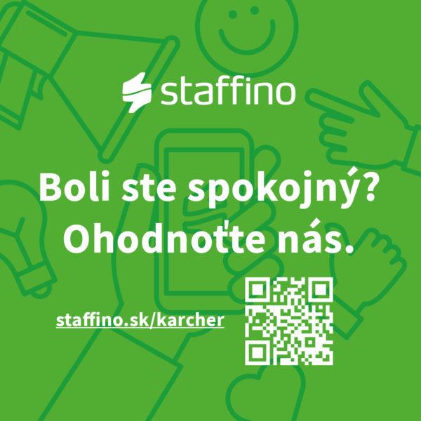 Ohodnoťte nás prostredníctvom aplikácie Staffino.