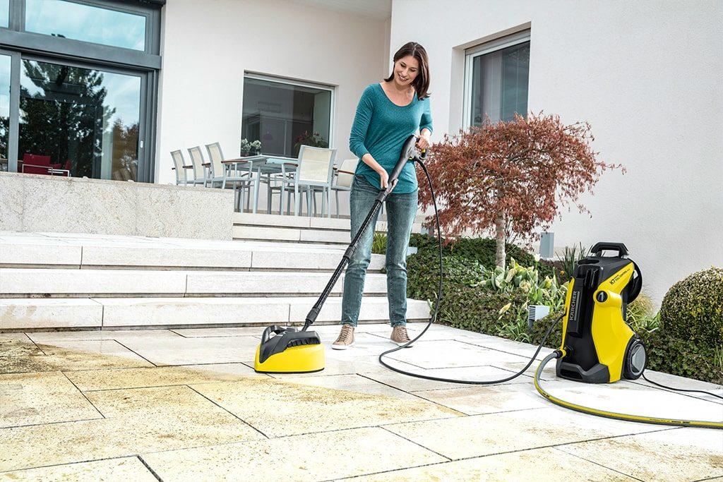 Tlakový čistič Kärcher K5 - umývanie vonkajšej dlažby na terase