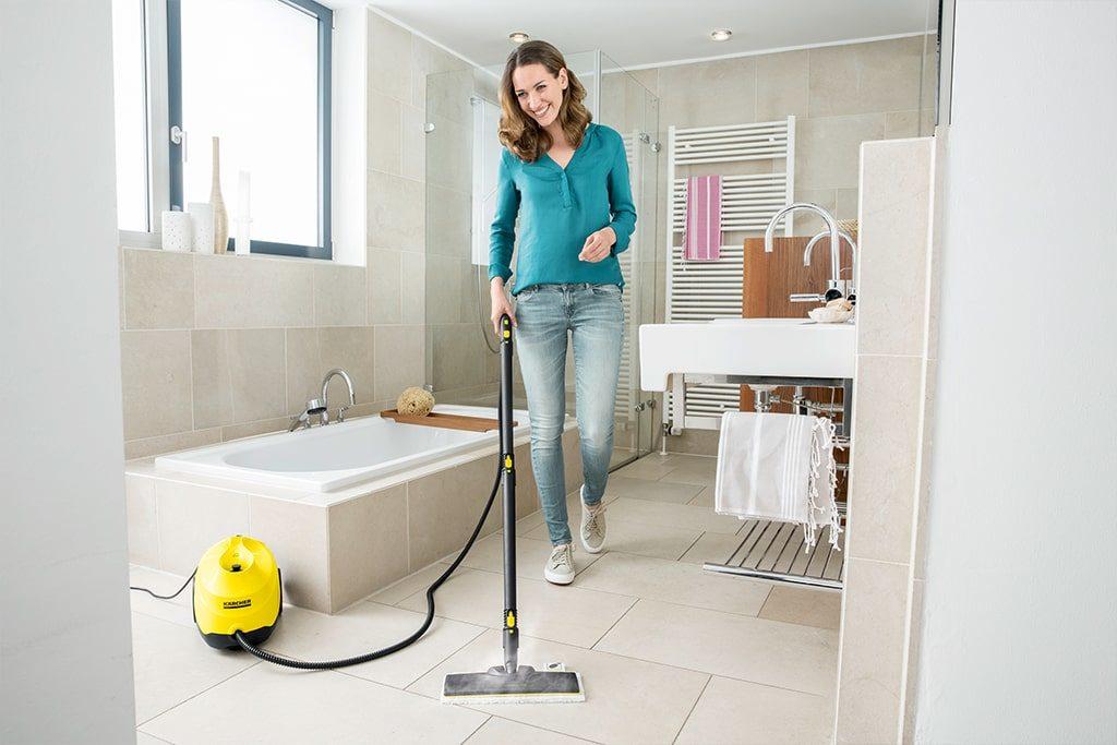 Využitie parného čističa v kúpelni